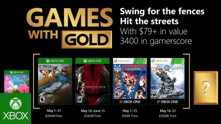 Games with Gold - Mayo - 2018