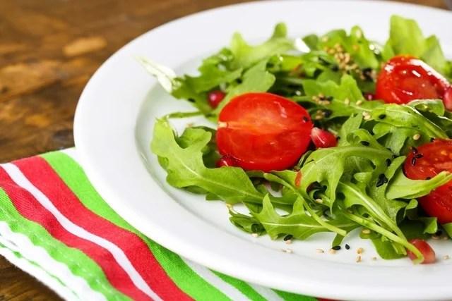 Ensalada de rúcula y tomate