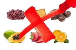 Alimentos proibidos na fase 2