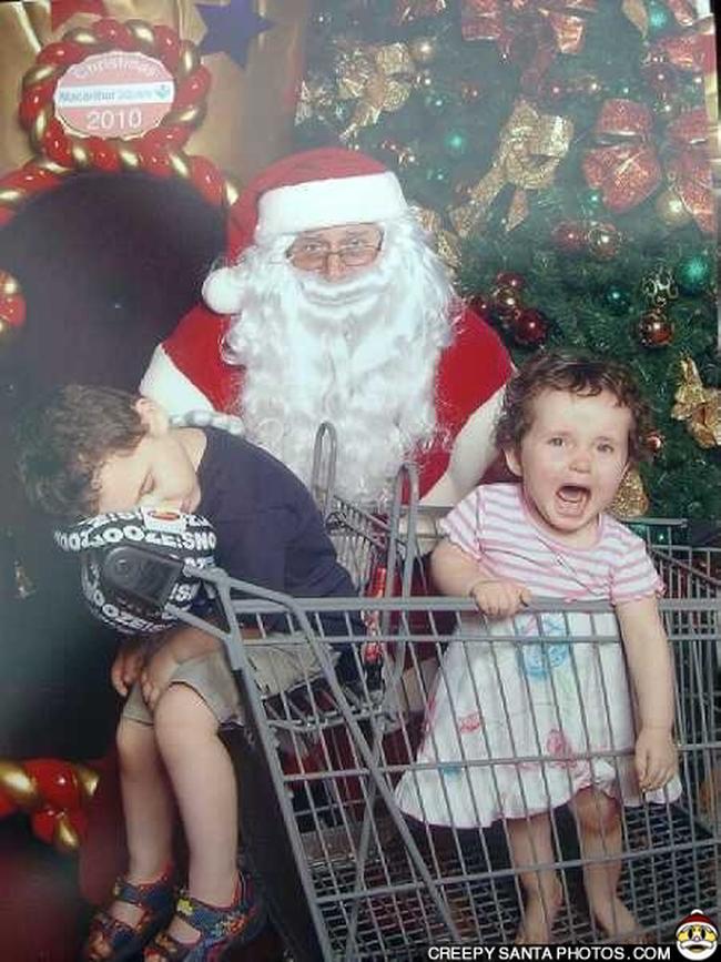 13 Crianas Que No Tm Tempo Para Fotos Com O Papai Noel