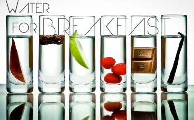 Image result for water with breakfast