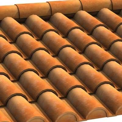 3d roof tiles model on Tile Models  id=13647