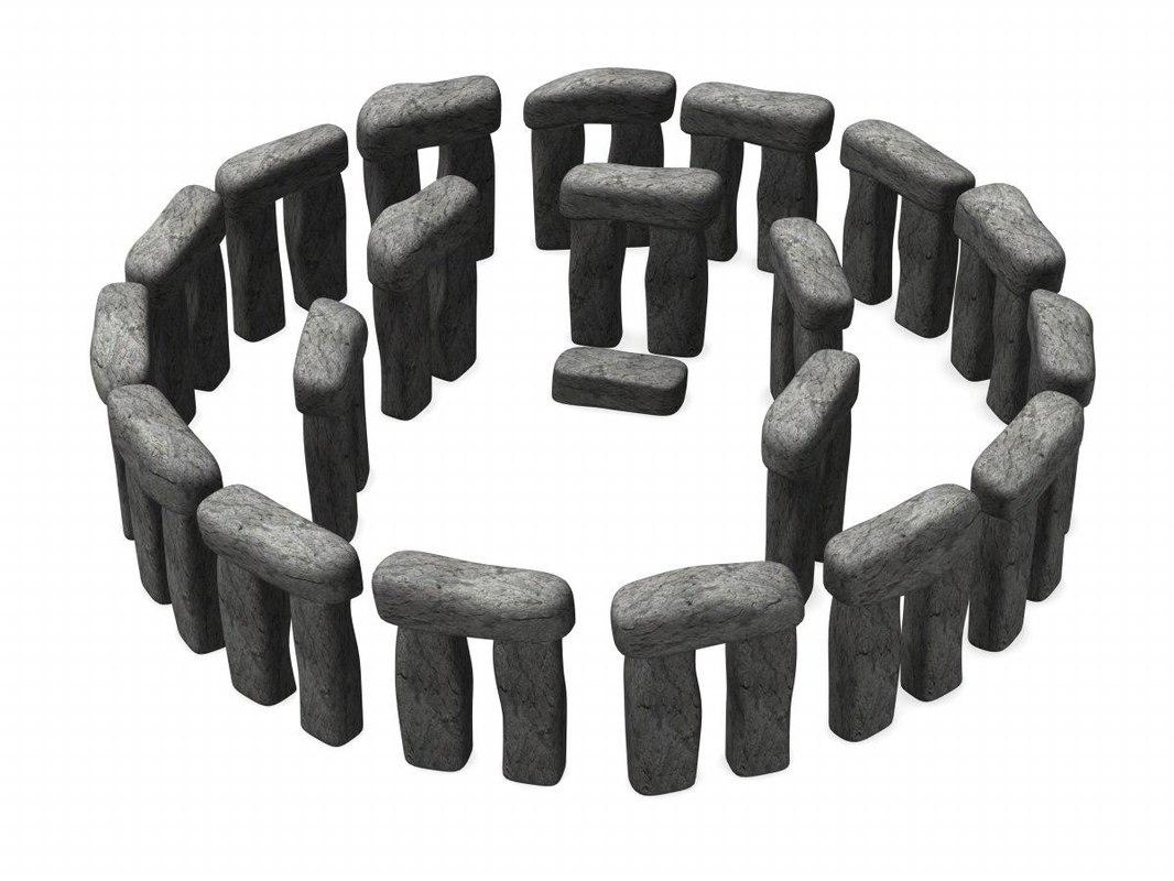 3d model stonehenge stone on Granite Models  id=18246