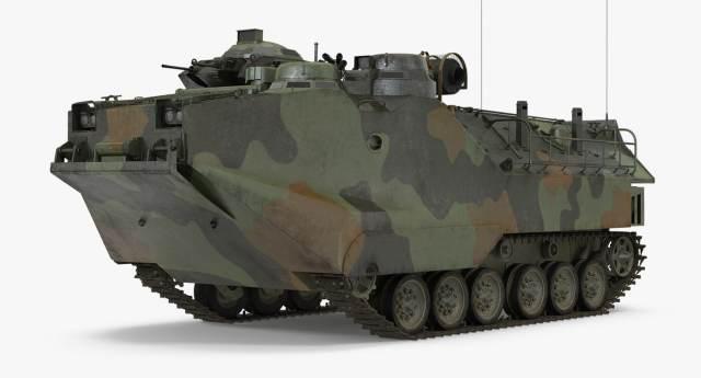 Landing tracked vehicle aav-p7 3D model - TurboSquid 1159053
