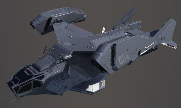 3D sci-fi space ship - TurboSquid 1180168