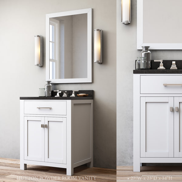 3d model hutton powder room vanity turbosquid 1192062