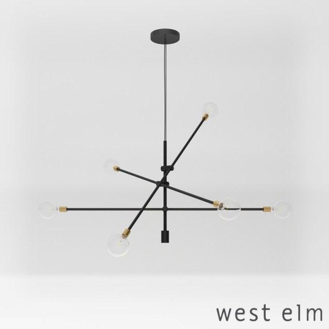 West Elm Mobile Chandelier Model