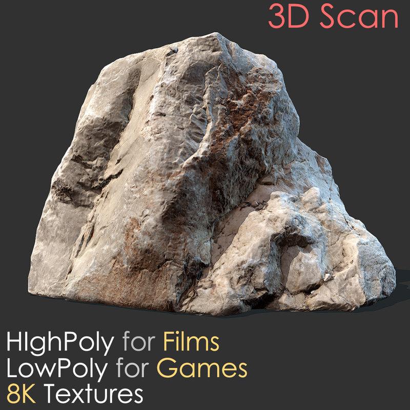 Stone scan 01 photogrammetry 3D model - TurboSquid 1209982 on Granite Models  id=99403