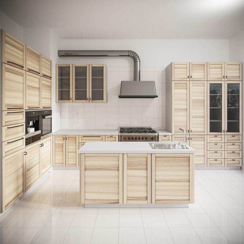 3D model modern kitchen - TurboSquid 1211000 on Modern Model Kitchen  id=71849