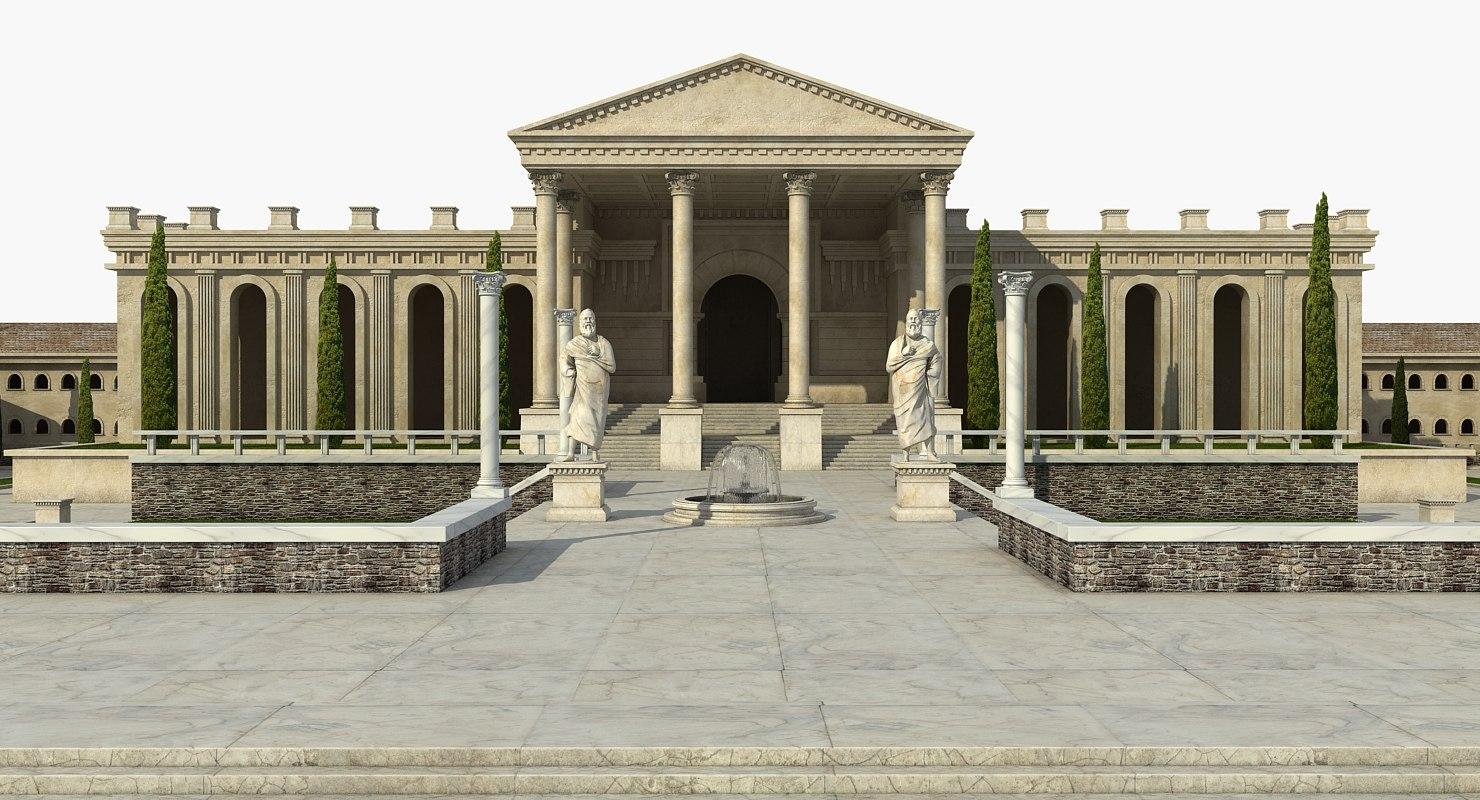 Best Kitchen Gallery: Greek Architecture 3d Turbosquid 1214565 of Greek Architecture  on rachelxblog.com