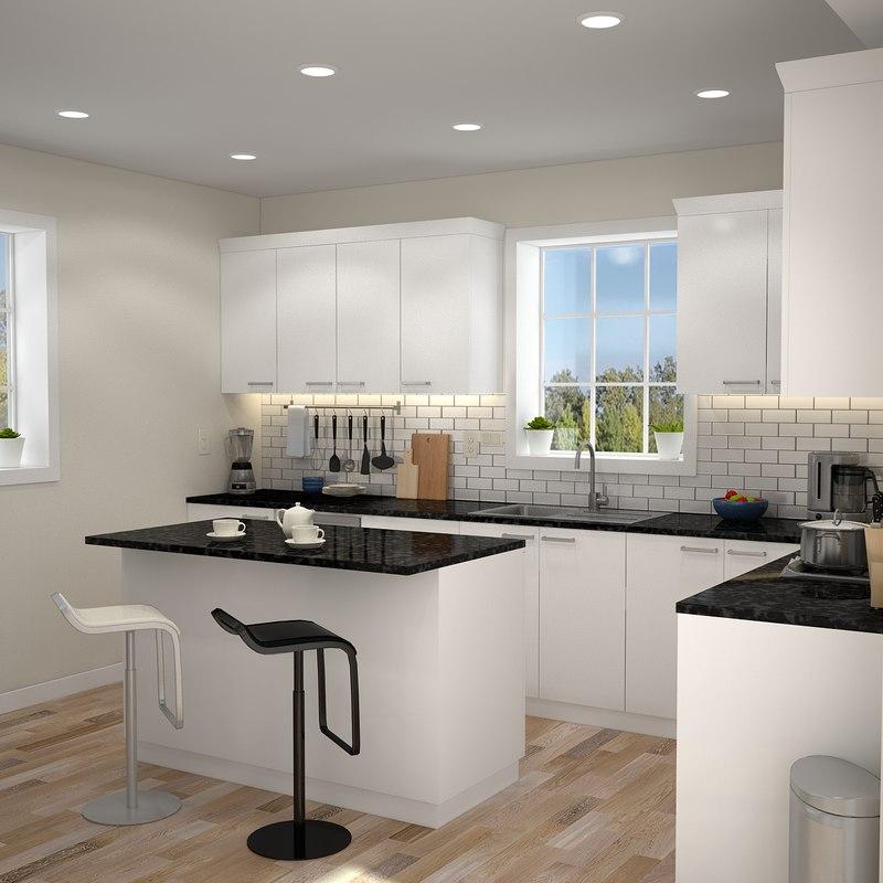 Modern kitchen interior model - TurboSquid 1214766 on Model Kitchens  id=53593