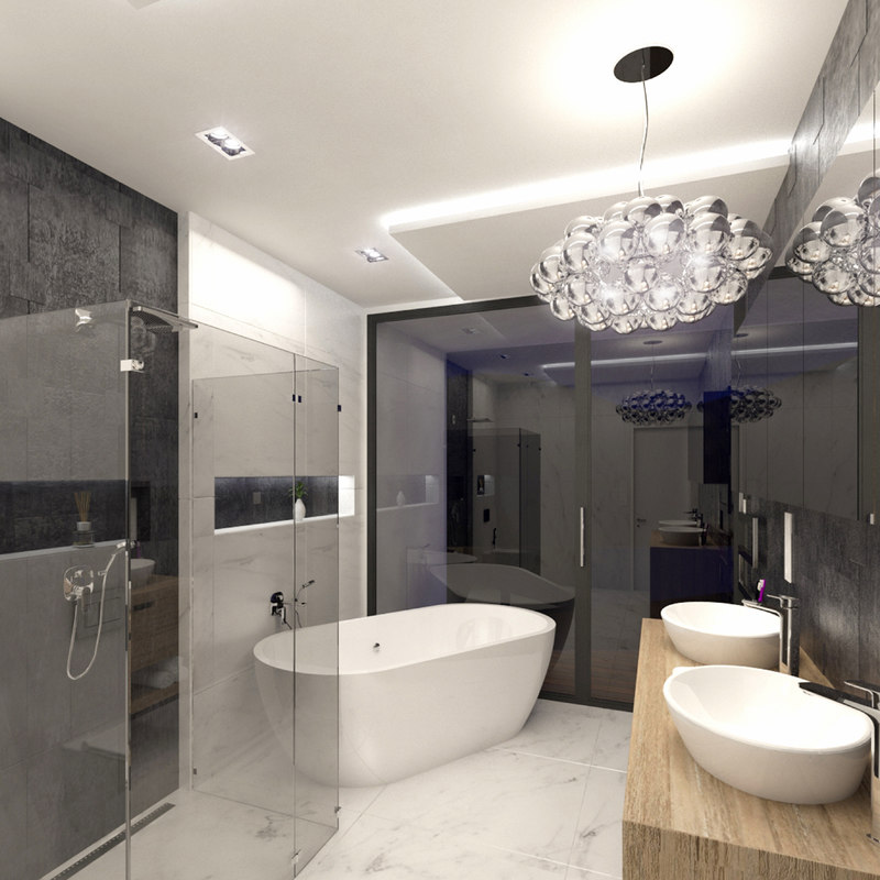 Scene luxury bathroom interior 3D model - TurboSquid 1216346 on Model Toilet Design  id=32495
