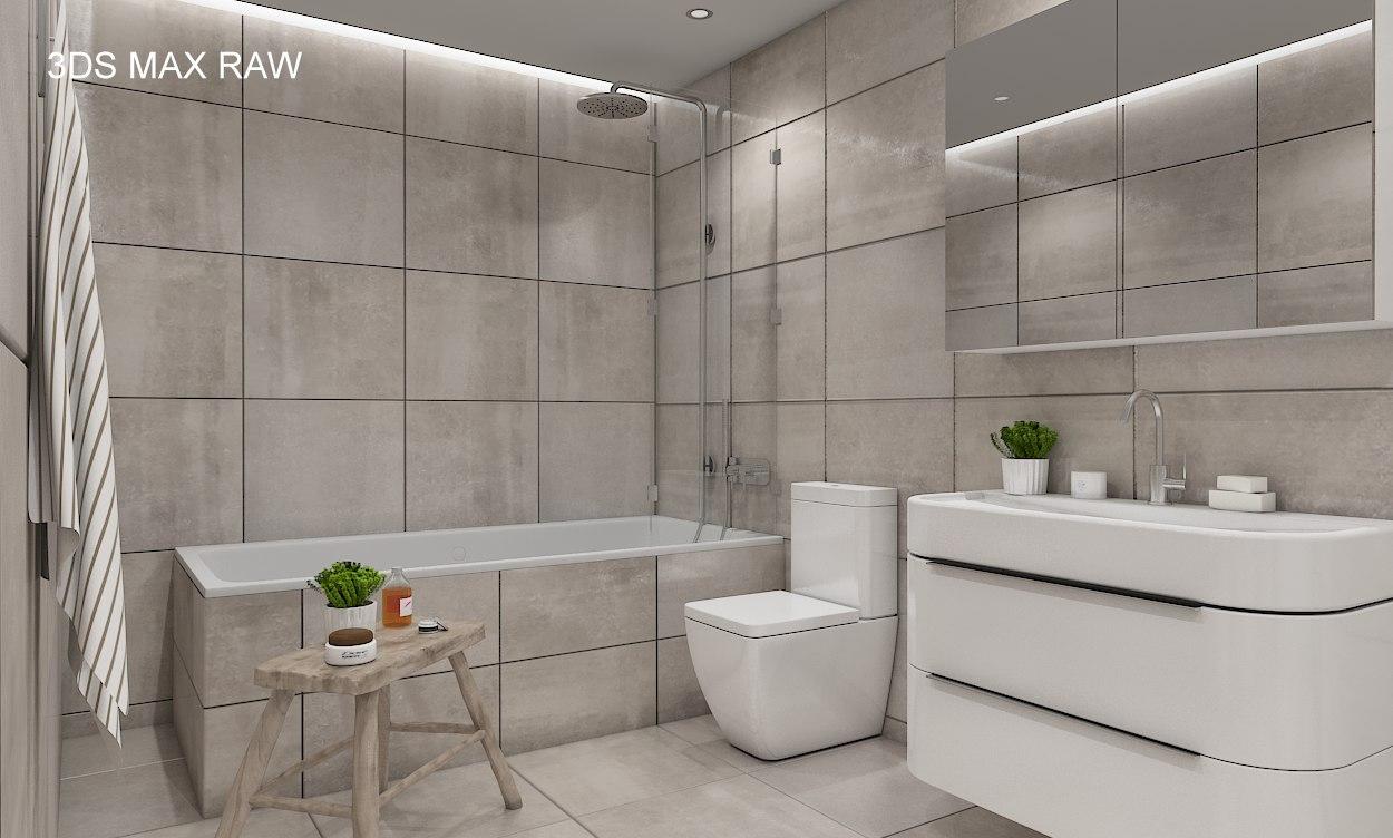 Scene modern bathroom interior 3D model - TurboSquid 1219886 on Model Bathroom Ideas  id=12085
