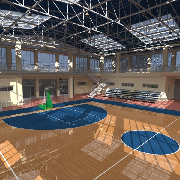 3D basketball school court - TurboSquid 1234697