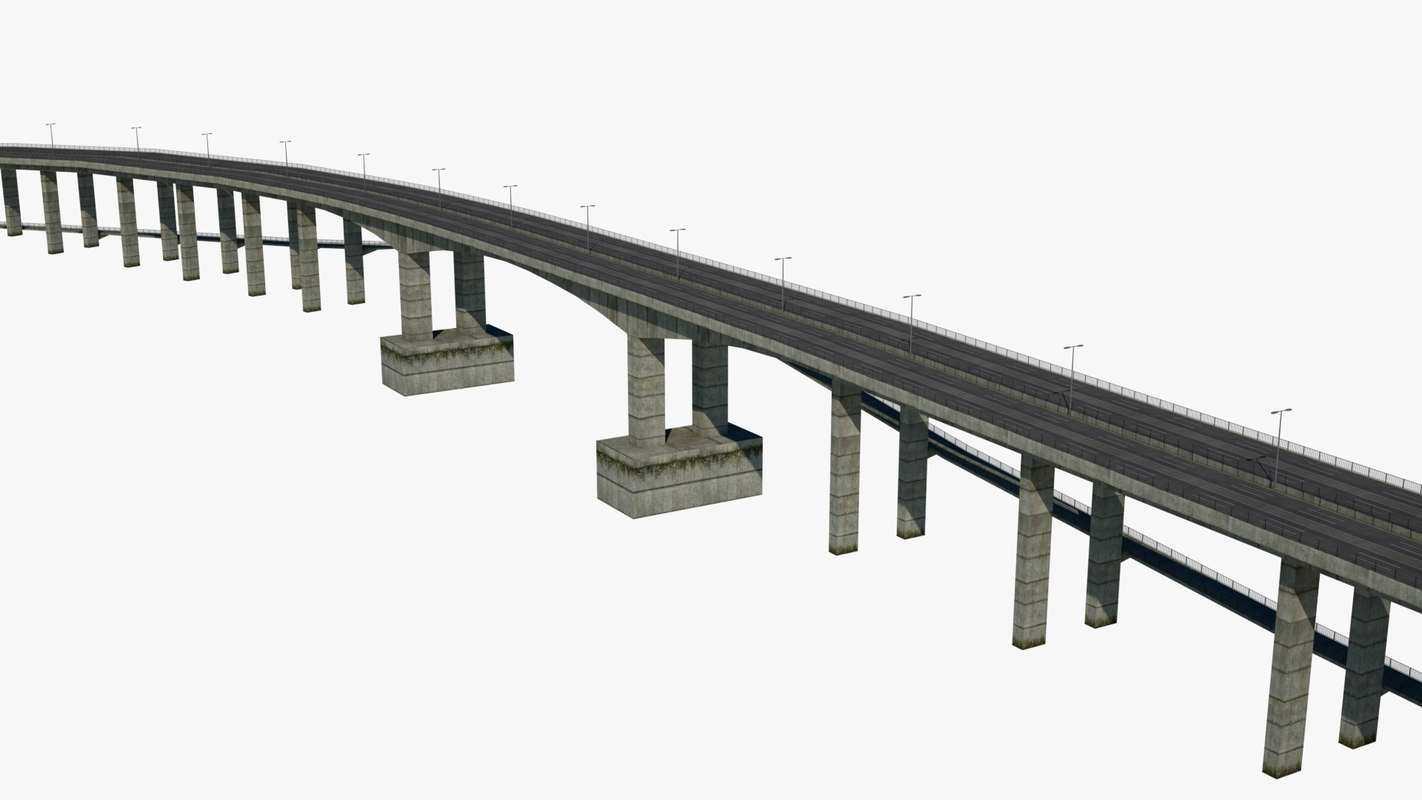 3d Highway Bridge Model