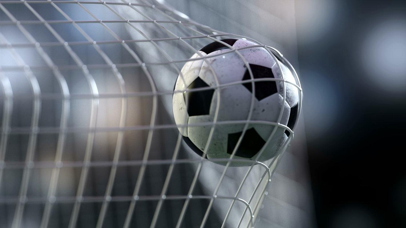 Scene Soccer Ball Goal 3d Model