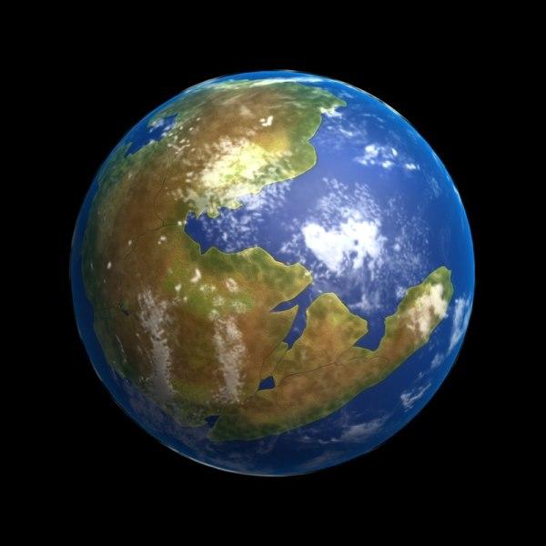 3D earth pangaea TurboSquid 1308222