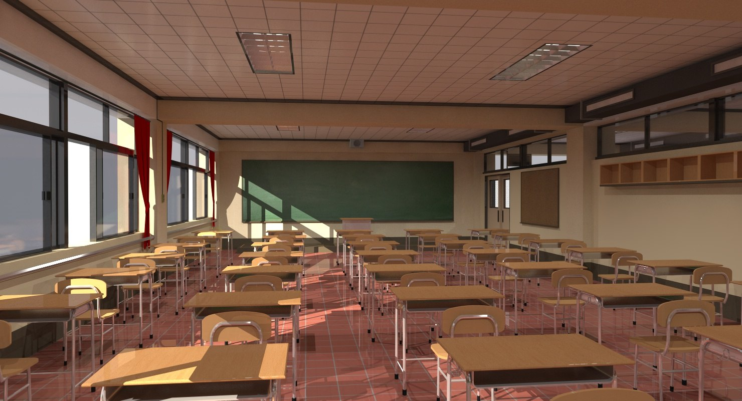 3d Highschool Classroom