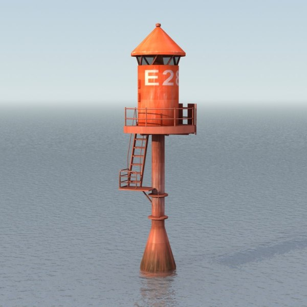 3ds max channel marker buoy