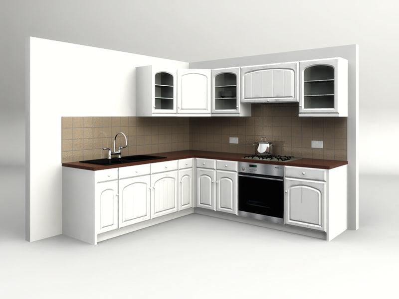 country kitchen 3d model on Modern:8-Rtxafges8= Model Kitchen  id=19807