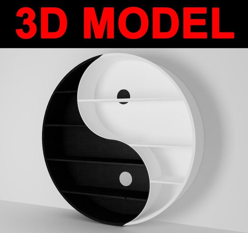 Yin Yang Bookcase 3ds