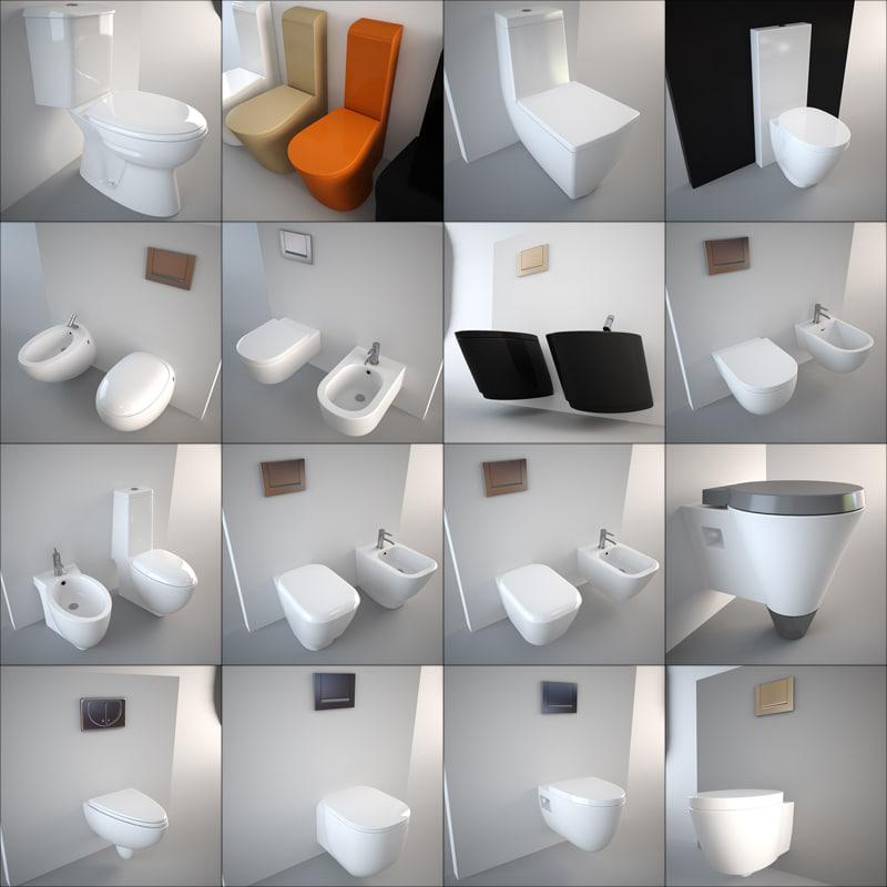 toilet design bidet 3d model on Model Toilet Design  id=88002