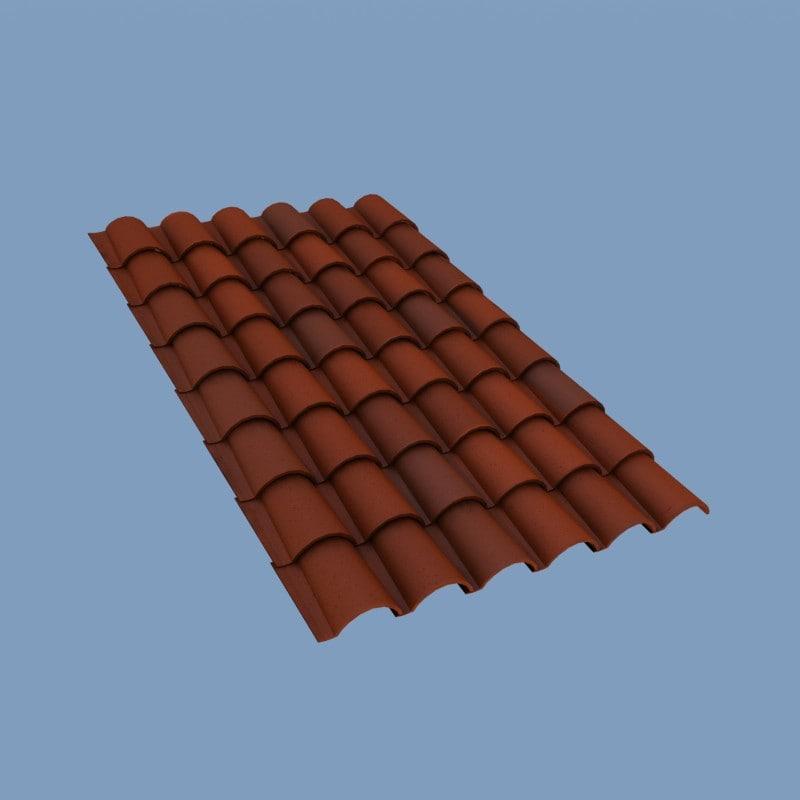 roofing tiles 3d model on Tile Models  id=97822