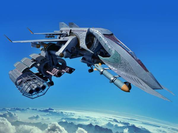 3d sci fi spacecraft model