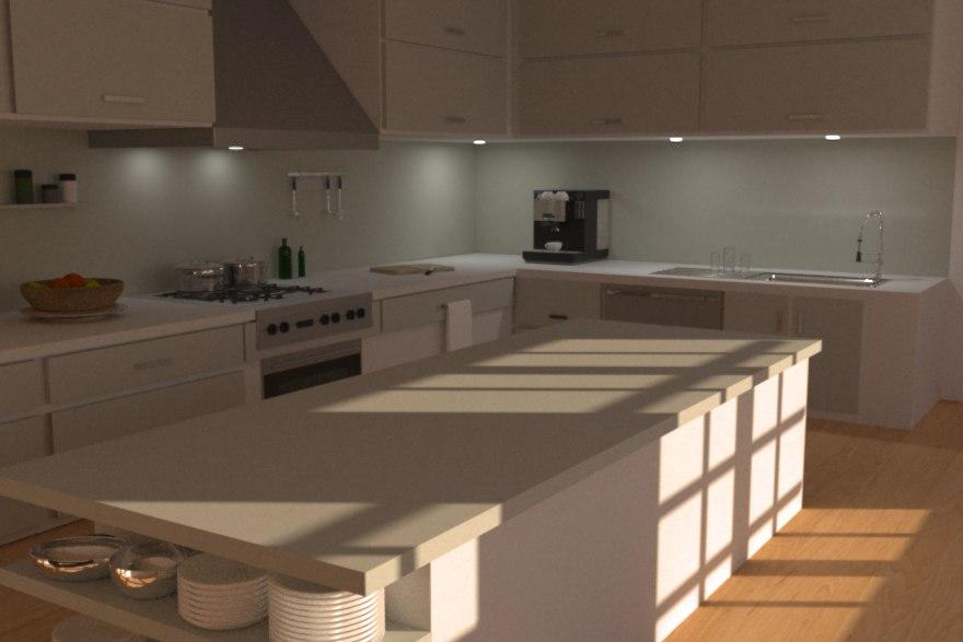 modern kitchen 3d model on Modern Model Kitchen  id=56389