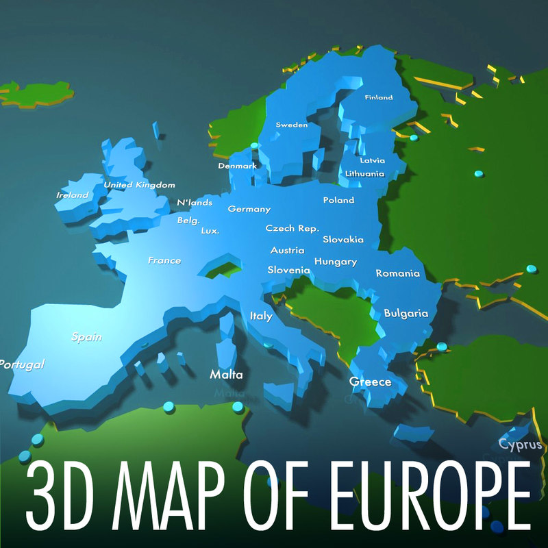 ma european eu European Union 3d map