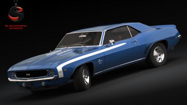 3d Model Chevrolet Camaro Ss 1969