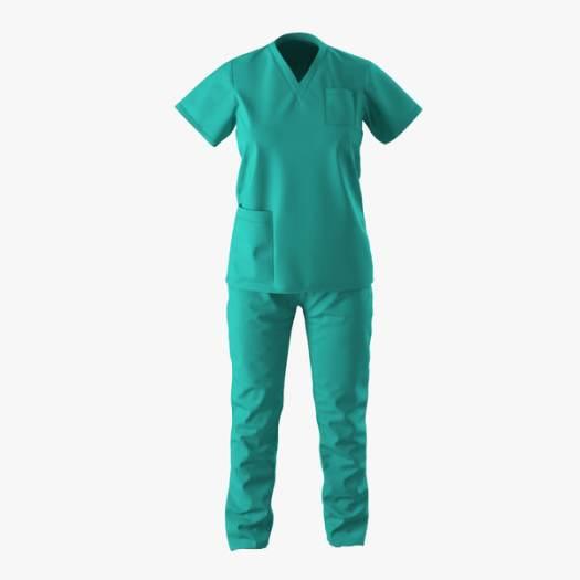 female surgeon dress 8 3d model