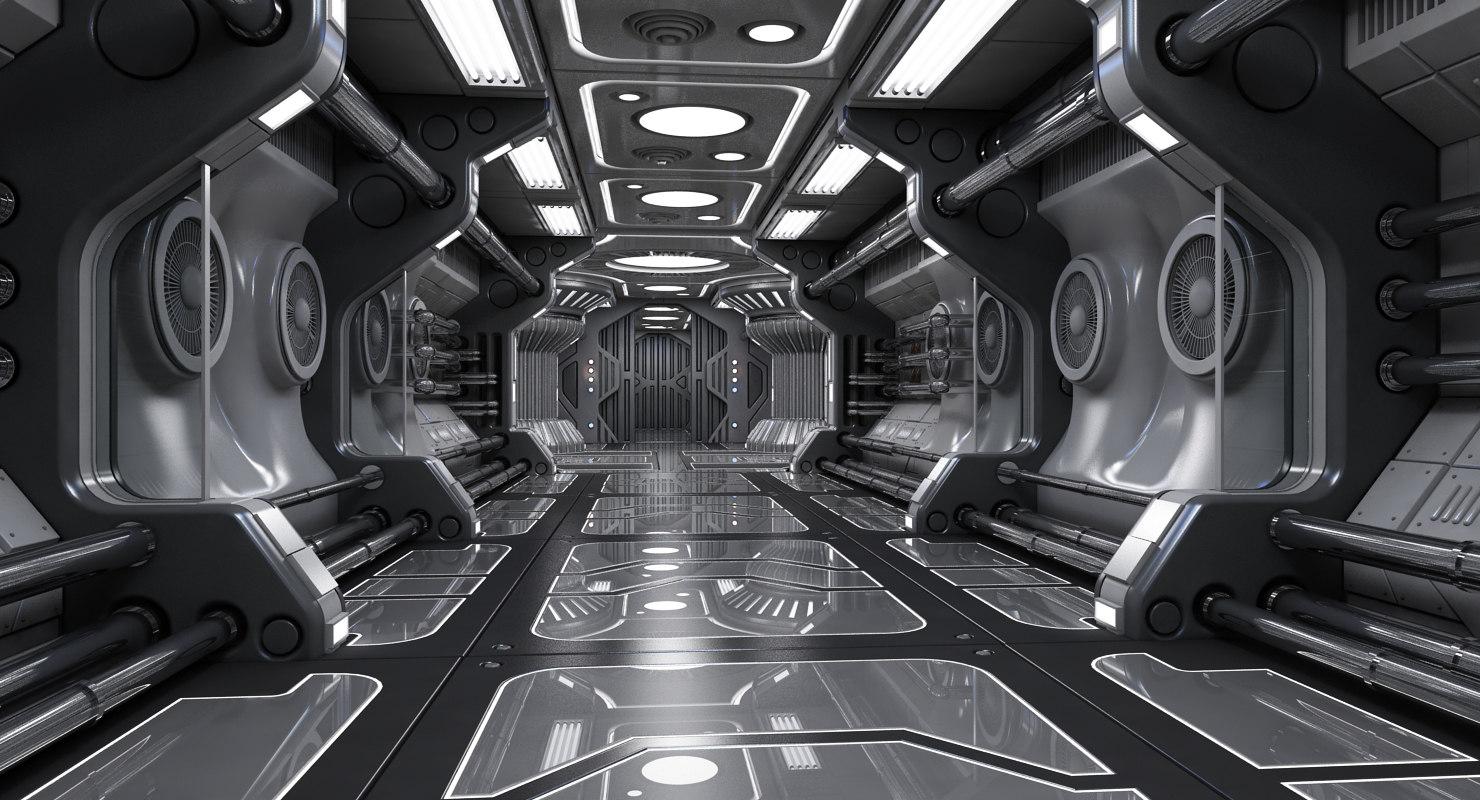 Sci Fi Interior Scene 3d Max