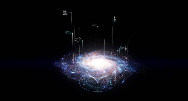 hologram galaxy 3d max