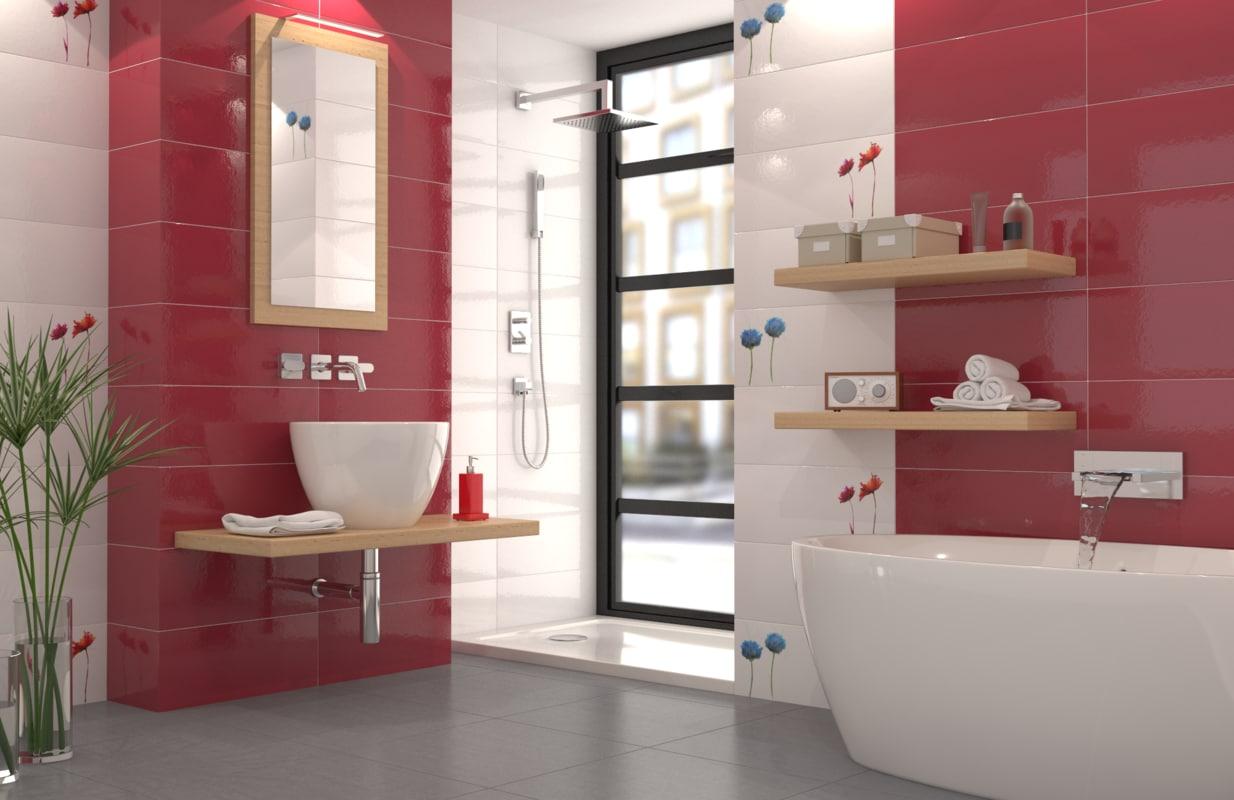 bathroom ceramic modern 3d max on Bathroom Model Design  id=63357