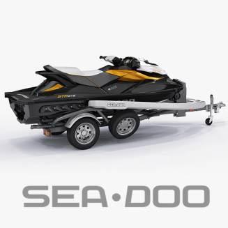 3d model sea-doo gti 215 trailer