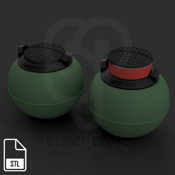 Impact grenade t13 rainbow 3D model - TurboSquid 1255322