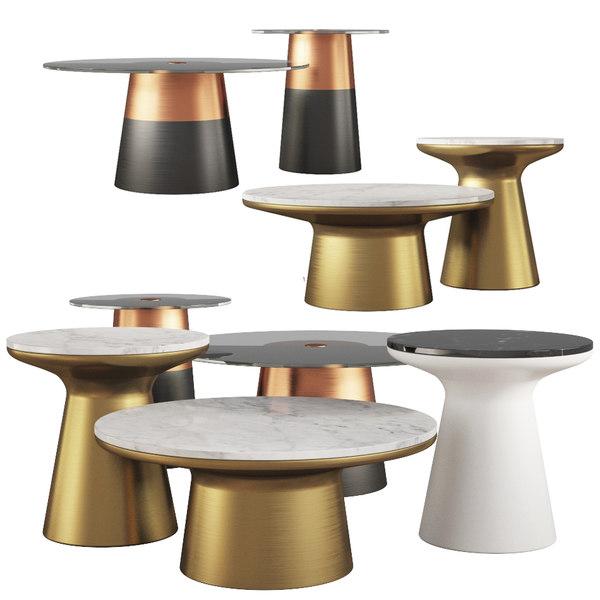 coffee tables west elm 3d model turbosquid 1565832
