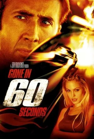 Image result for gone in 60 seconds poster