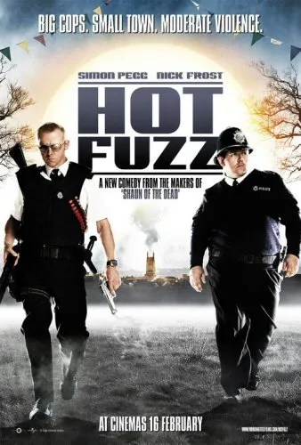 Hot Fuzz poster mimicking Bad Boys II