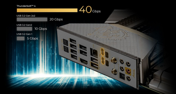 MSI MEG Z590 ACE Gold Edition has 24K gold heat sink, just because 08 | TweakTown.com