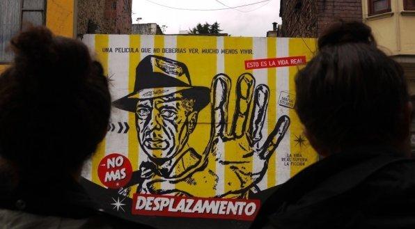 Streetart Bogota Desplazamiento