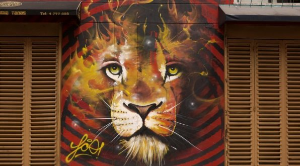 Streetart Bogota Lion
