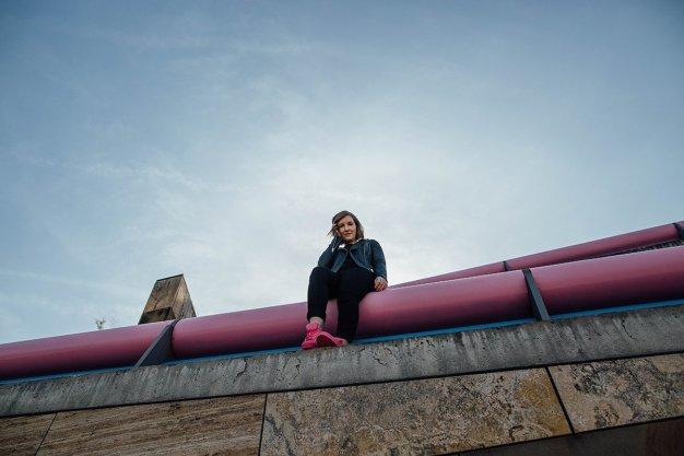 Lisa Mattis Staatsgalerie Stuttgart adidas Supercolor Pink