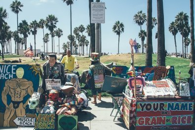 Smart eBike skip leg day Venice Beach