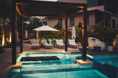 Seychellen Eden Bleu Pool Baldachin
