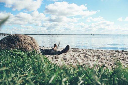 Entspannung am Strand in Klink an der Müritz