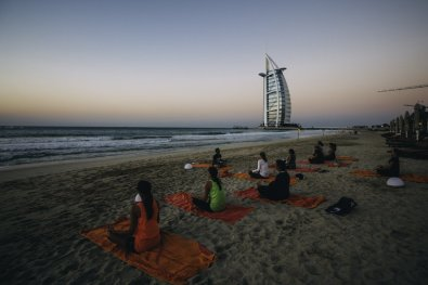 Sunset Yoga in Dubai