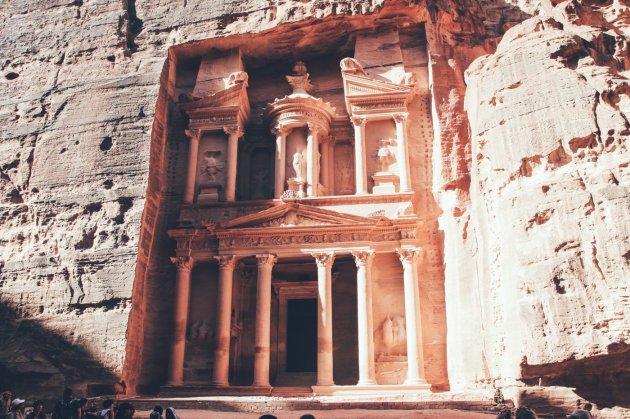 Das Schatzhaus in der Felsenstadt Petra
