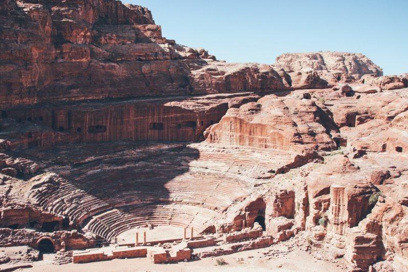 Amphitheater in der Felsenstadt Petra